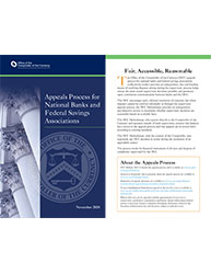 Appeals Process for National Banks and Federal Savings Associations Cover Image