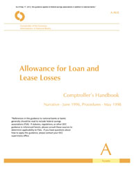 Comptroller's Handbook: Allowance for Loan and Lease Losses Cover Image
