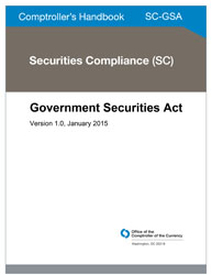 Comptroller's Handbook: Government Securities Act Cover Image
