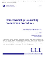Comptroller's Handbook: Homeownership Counseling Examination Procedures Cover Image