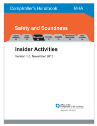 Comptroller's Handbook: Insider Activities Cover Image
