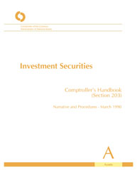 Comptroller's Handbook: Investment Securities Cover Image