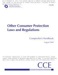 Comptroller's Handbook: Other Consumer Protection Laws and Regulations Cover Image