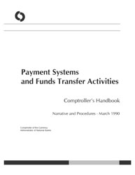 Comptroller's Handbook: Payment Systems and Funds Transfer Activities Cover Image