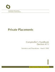 Comptroller's Handbook: Private Placements Cover Image
