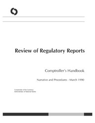 Comptroller's Handbook: Review of Regulatory Reports Cover Image