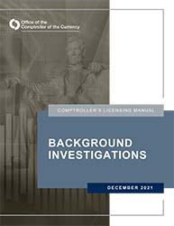 Licensing Manual - Background Investigations Cover Image
