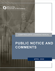 Licensing Manual - Public Notice and Comments Cover Image