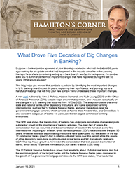 Hamilton's Corner: What Drove Five Decades of Big Changes in Banking?