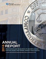 Report to Congress on Preserving and Promoting Minority Depository Institutions 2016 Cover Image
